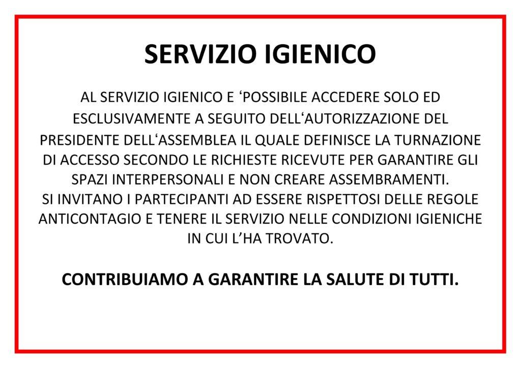 [INFO] – Servizio Igienico